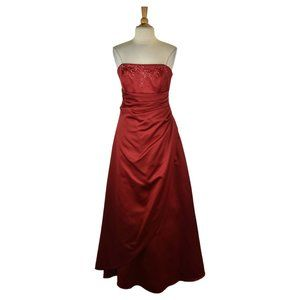 David's Bridal Gown 12 Red